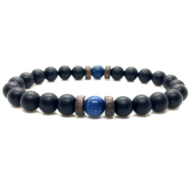 Men's Natural Moonstone Beaded Bracelets