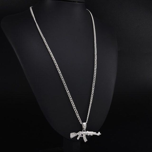 Hip-Hop Gun Shaped Pendant Necklace for Men
