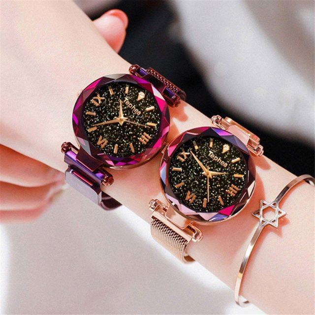 Women's Mesh Glittery Watches